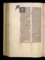 Historiated Initial With A Representation Of The Trinity, In 'The Bible Of William Of Hales'